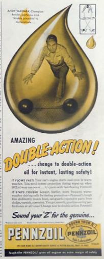 Pennzoil Ad - 1949