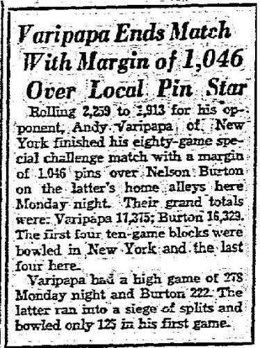 Varipapa Defeats Burton - June 8, 1937