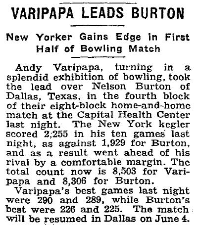 Varipapa Leads Burton - May 28, 1937