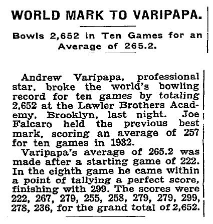 World Mark to Varipapa - Sept 4, 1935