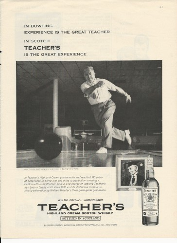 Teachers Scotch Ad - 1961