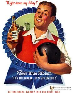 Pabst Bowling Ad